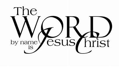 Jesus Christ Names Above Word Christian Saves