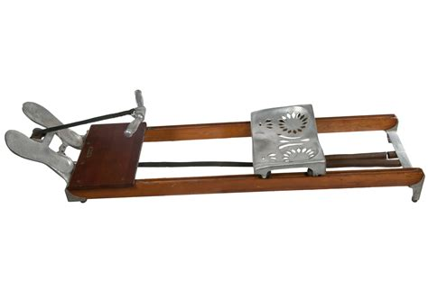 Vintage Wood And Aluminum Rowing Machine Omero Home