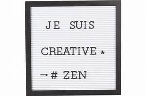 Cadre Message Lumineux : tableau d 39 affichage blanc cadre noir message tableau ~ Teatrodelosmanantiales.com Idées de Décoration