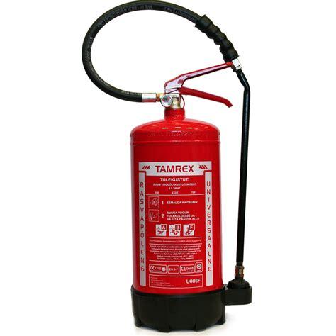 TAMREX 6 L tauku ugunsdzēšamais aparāts