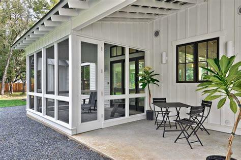 modern farmhouse farmhouse porch austin  redbud custom homes