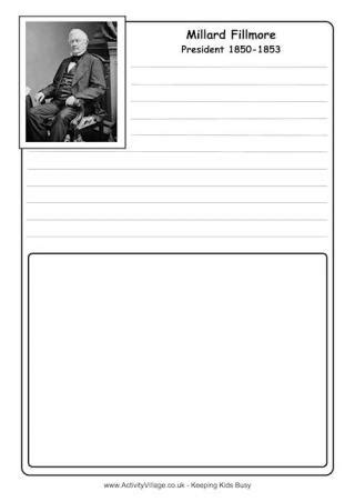 Millard Fillmore Coloring Page