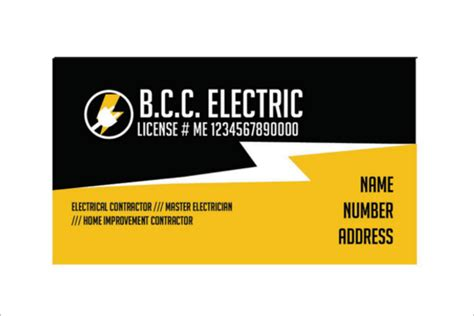 electrician business card designs  psd  ideas