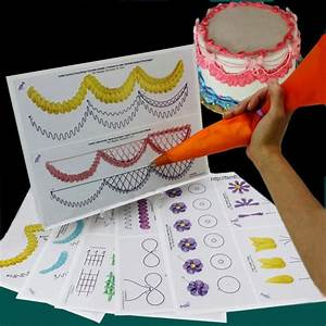 12pc Cake Practice Template Board Piping Drawing Diy Paste