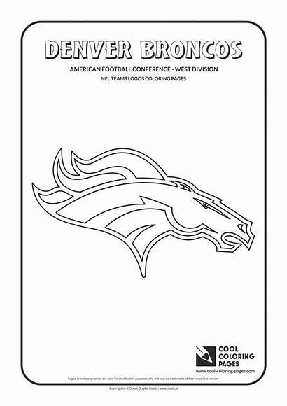 Coloring Nfl Pages Broncos Football Logos Denver