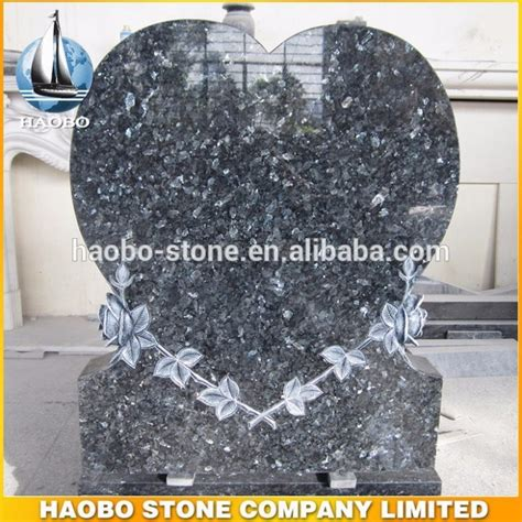 shaped blue pearl granite cemetery headstone prices