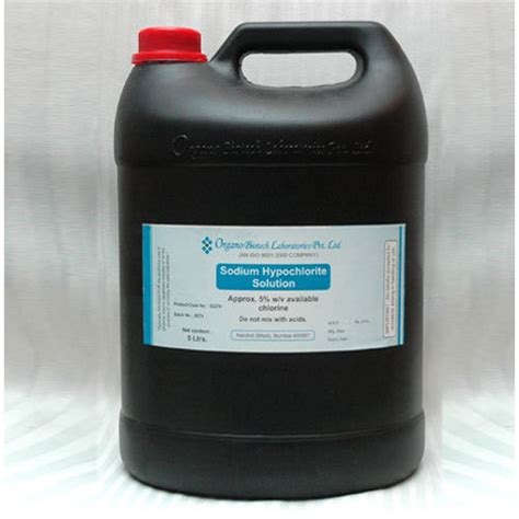 sodium hypochlorite solution sodium hypochlorite