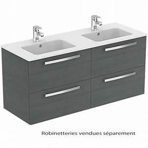 Plan Suspendu Pour Vasque : meuble sous plan et plan vasque ulysse suspendu 4 tiroirs ~ Teatrodelosmanantiales.com Idées de Décoration
