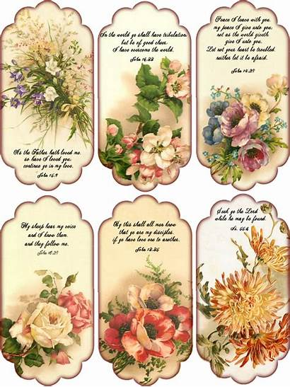 Printable Tags Paper Floral Collage Gift Shabby