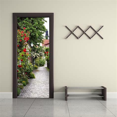 stickers muraux imitation bedroom door decoration promotion shop for promotional bedroom door decoration on aliexpress