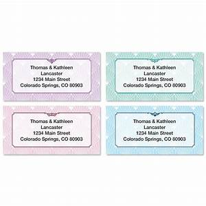 art deco border return address labels colorful images With art deco address labels