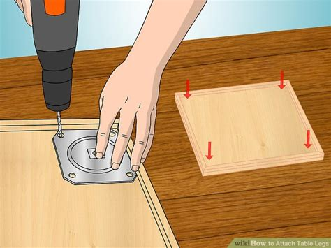 how to attach table top to legs how to attach table legs 12 steps with pictures wikihow
