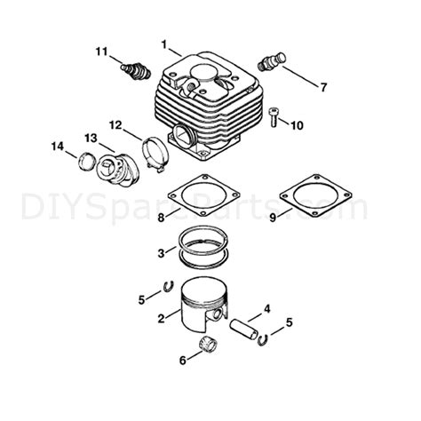 Stihl Ms 381 Chainsaw Ms381 Parts Diagram Cylinder