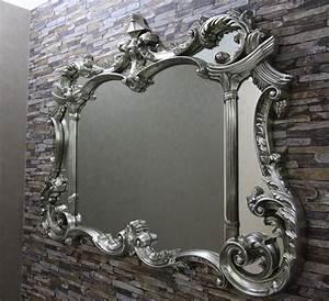 Großer Spiegel Silber : top moderner wandspiegel 129x100 cm antik silber gro er spiegel fachh ndler ebay ~ Indierocktalk.com Haus und Dekorationen