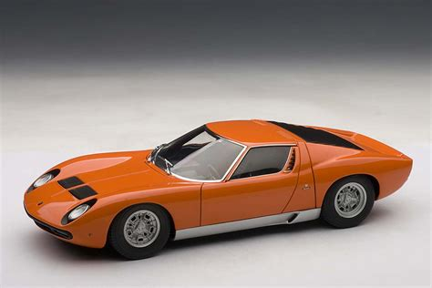 autoart highly detailed die cast model orange lamborghini
