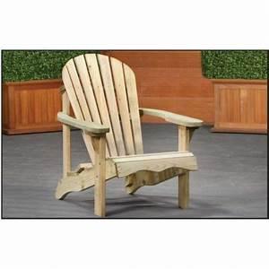 Fauteuil Jardin Bois : fauteuil de jardin relax en pin impr gn pour exterieur pas cher ~ Teatrodelosmanantiales.com Idées de Décoration