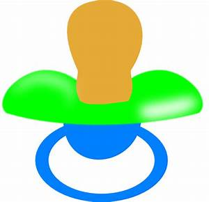Blue And Green Pacifier Clip Art at Clker.com - vector ...