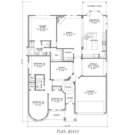 one 4 bedroom house plans 4 bedroom house plans one studio design