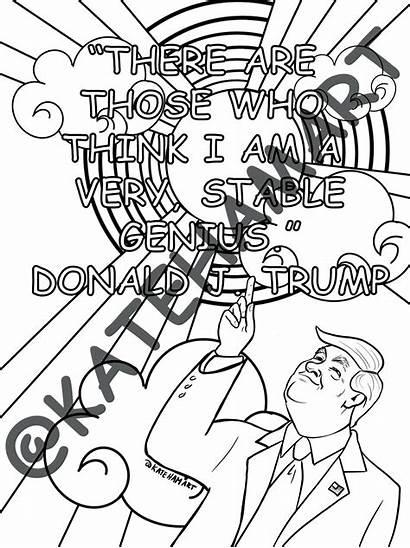 Coloring Trump Sheets Printable Downloadable Biden Tax