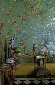 Chinoiserie Dining Rooms with Wallpaper