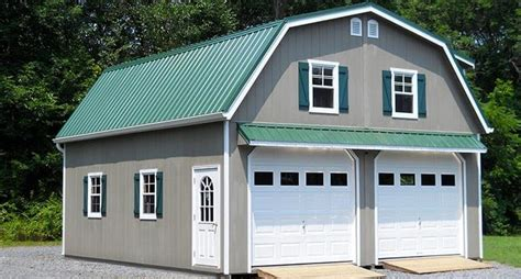 Prefabricated Garage : Metal Garages Garage Building Kits Steel Prefab Garage