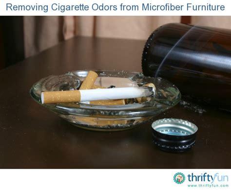 removing cigarette odors from microfiber furniture