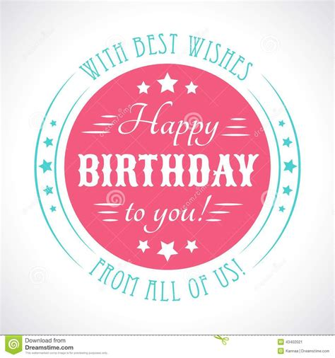 This card prints one per page and is accessible. Happy Birthday Card. Typography Letters Font Type Stock Vector - Image: 43402021