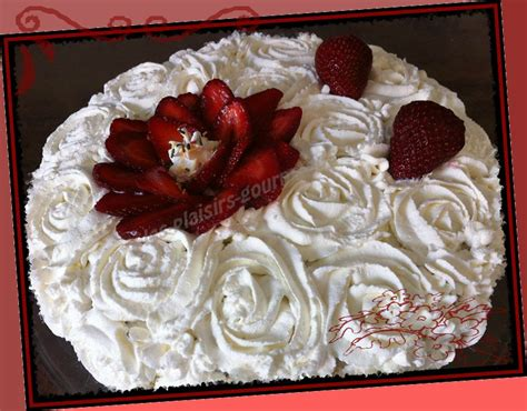deco fraisier chantilly
