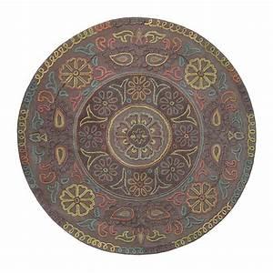 Tapis Rond Mandala : tapis rond mandala esprit home taupe 100x100 ~ Teatrodelosmanantiales.com Idées de Décoration