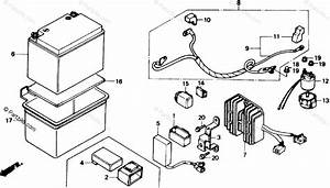 Honda Scooter 1985 Oem Parts Diagram For Battery