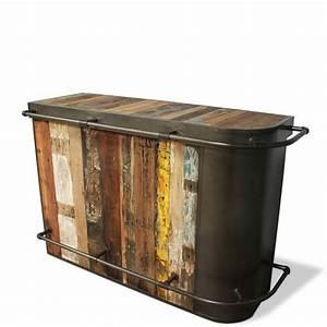 Bar Style Industriel : meuble de bar industriel design vintage bois et fer ~ Teatrodelosmanantiales.com Idées de Décoration