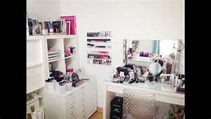 Rangement De Maquillage : mon rangement et ma collection de maquillage makeup storage collection youtube ~ Melissatoandfro.com Idées de Décoration