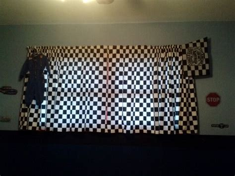 at the races checkered flag curtains kids bedrooms