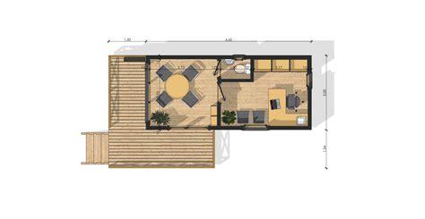 plan bureau de travail maison de jardin avec ossature bois 20 m 35742