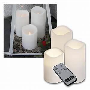 Led Kerzen Für Aussen Mit Fernbedienung : 3er set led au en kerzen mit fernbedienung timer ~ Orissabook.com Haus und Dekorationen