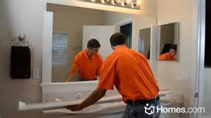 framing bathroom mirror ideas homes diy experts how to frame a quot builder grade