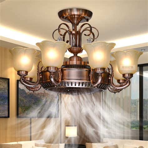 living room fans with lights led luxury crystal ceiling fan lights chandelier modern
