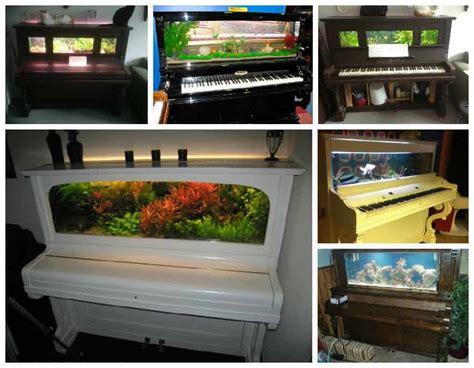 piano upcycled  aquarium recyclart