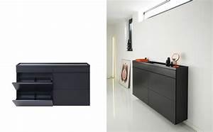 Meuble Chaussure Noir : meuble chaussures noir id es de d coration int rieure french decor ~ Teatrodelosmanantiales.com Idées de Décoration