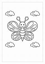 Butterfly Colouring Printable Surrey East Kid sketch template