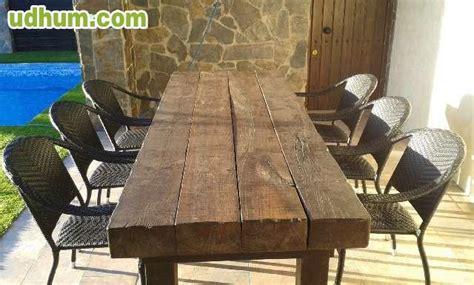 mesas de madera rusticas tratadas