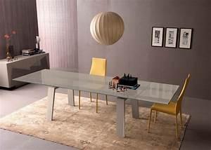 Table Salle A Manger Verre : table manger design moderne et contemporain en verre ~ Teatrodelosmanantiales.com Idées de Décoration