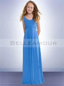 Robe De Demoiselle D Honneur Fille : robe demoiselle d 39 39 honneur fille bleue simple longue ~ Mglfilm.com Idées de Décoration