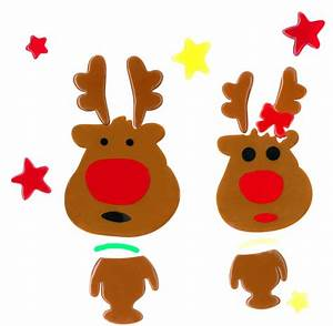 Fensterdeko Weihnachten Kinder : magicgel fensterbilder weihnachten rentier eltern 24 x 24 cm fensterdeko f r das basteln ~ Yasmunasinghe.com Haus und Dekorationen