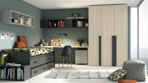 amenagement chambre ado chambre gris fonce et beige design de maison