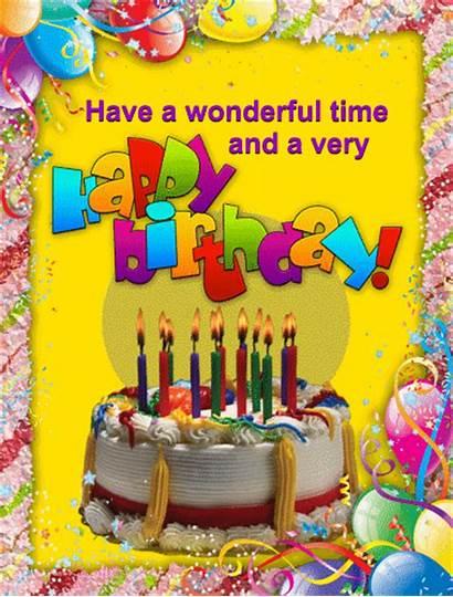 Birthday Wonderful Happy Balloons Send Wishes Ecard
