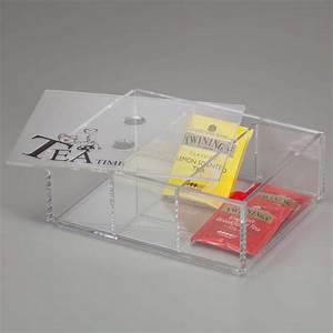 Portacialde in plexiglass con coperchio e 3 divisori ONLY