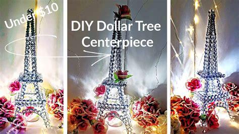 diy glam decor centerpiece crystal eiffel tower dollar