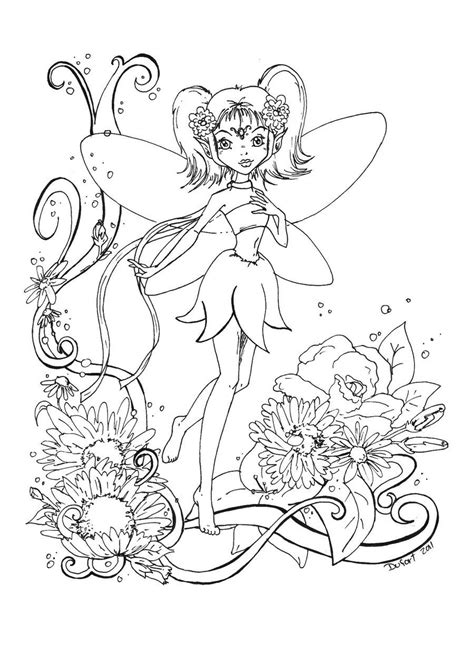 Pin on Fairies to color