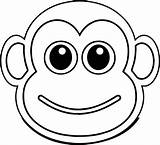 Monkey Coloring Cartoon Face Baboon Illustration Ingrahamrobotics Printable sketch template